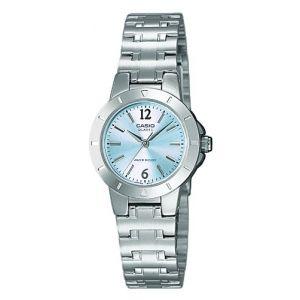 Casio LTP-1177PA-2AEF - Collection - Montre Femme - Quartz Analogique - Cadran Bleu - Bracelet Acier Argent
