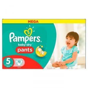 Image de Pampers Baby-Dry Pants taille 5 Junior 12-18 kg - 72 couches