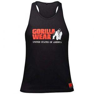 Gorilla wear Gym Shirt Homme - Débardeur Classique Stringer - S à 3XL Bodybuilding Muscle Fitness Muscle Shirt Noir XXL