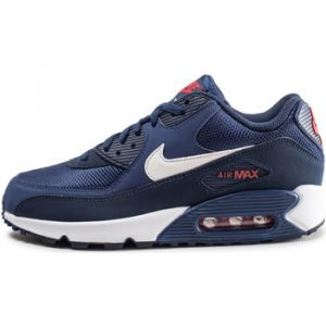 Nike Homme Air Max 90 Essential Bleue Et Blanche Baskets