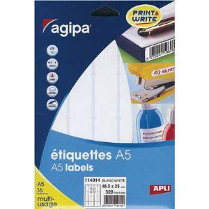 Image de Agipa 1152 étiquettes de bureau multi-usage A5