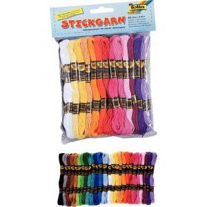 O Color 52 échevettes 7m à 6 brins en coton pour faire des bracelets brésiliens, 26 couleurs assorties - Lot de 2