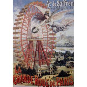 Grafika Affiche Publicitaire pour la Grande Roue de Paris, 1910 - Puzzle 1000 pièces