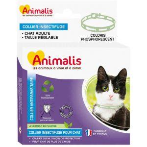 Animalis Collier Antiparasitaire Phosphorescent pour Chat - 35cm