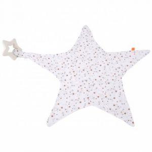 Kikadu Doudou étoile avec anneau de dentition espace