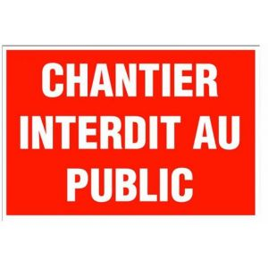 "Novap Plaque chantier ""Interdit au public"" 330x200 mm"
