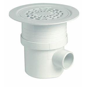 Nicoll SITAR - Siphon sol plastique avec grille PVC sortie verticale Diam 50-63 horizontale Diam 50