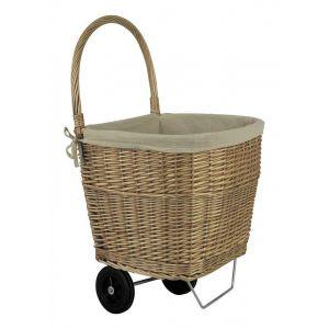 Pegane Chariot à bûches en osier -