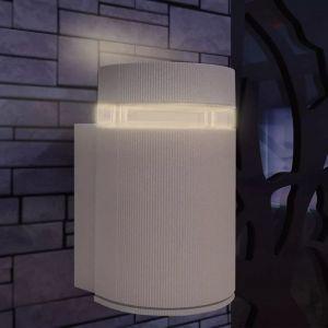 VidaXL Applique murale extérieure demi-cylindrique Aluminium Gris