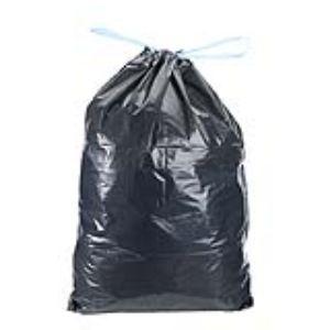 Mystbrand Carton de 200 sacs poubelle avec liens coulissant 40 microns (100 L)