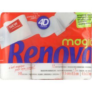 Renova 4D Magic - Rouleaux de papier hygiéniques blanc