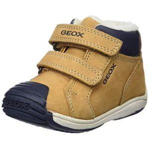 Geox B Toledo D, Sneakers Basses bébé garçon, Beige (Biscuit/Navy C5bf4), 24 EU