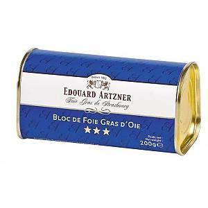 Edouard Artzner Bloc de foie gras d'oie 200g