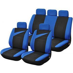 Provence Outillage Housses de Siège Voiture Auto avec Ouverture Air Bag Noir Bleu
