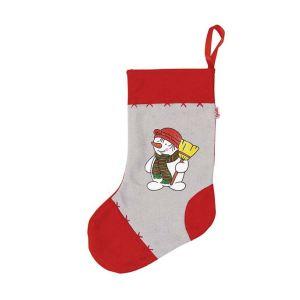 Goki Chaussette de Noël en feutre : Bonhomme de neige Charly