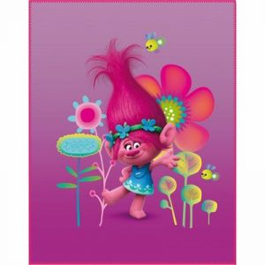 Cti Plaid polaire Trolls Poppy (110 x 140 cm)