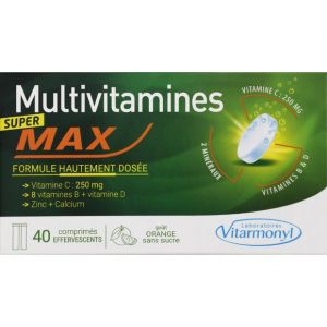 Laboratoires Vitarmonyl Super tonique - multivitamines max 40 comp eff