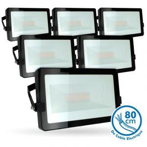 Eclairage design Lot de 5 Projecteurs LED 50W Noir Extérieur IP65   blanc-chaud-2700k