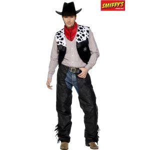 Smiffy's Déguisement de cowboy cuir pour homme (taille M ou L)