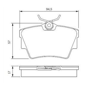 Bosch BP378 - 4 Plaquettes de frein Arrière