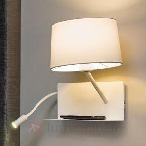 Faro 28414 HANDY - Lampe applique blanche avec lecteur LED droite