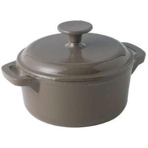 Baumalu Cocotte ronde en fonte avec couvercle (18 cm)