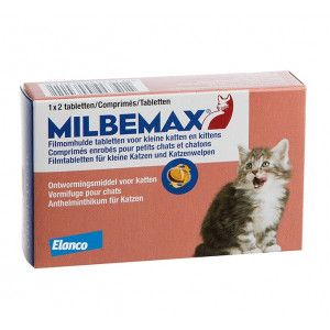 Bakker Milbemax Vermifuge Small pour chat et chaton 2 Comprimés