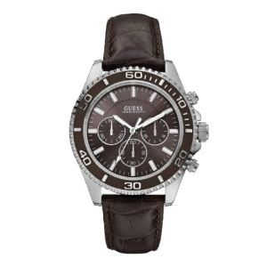 Guess W0171G - Montre pour homme avec bracelet en cuir