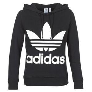 Adidas Sweat-shirt SWEAT A CAPUCHE FEMME TREFOIL HOODIE / NOIR Noir - Taille FR 36,FR 38,FR 40,FR 42