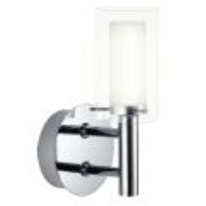 Image de Eglo Applique simple pour salle de nain Palermo en verre et acier