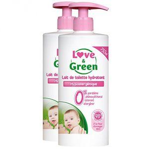 Love & Green Lait de toilette hypoallergénique