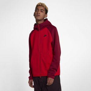 Nike Sweat à capuche entièrement zippé Sportswear Tech Fleece pour Homme - Rouge - Taille L