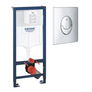 Grohe Bâti-support pour wc Rapid SL - Pour mur porteur, chrome