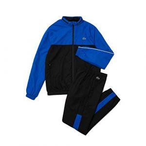 Lacoste Sport WH9563 Ensemble survêtement, Noir/Lazuli-Blanc, XL Homme