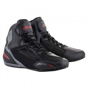 Alpinestars Chaussures moto Faster 3 Drystar noir/gris/rouge - US-10