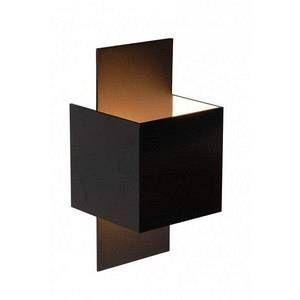 Lucide Applique carrée Cubo noir