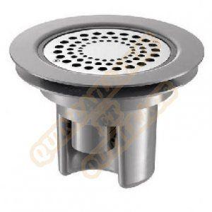 Delabie Siphon à hauteur réglable pour sol souple ou en vinyle. grille inox diamètre 115. platine-grille Réf : 683002