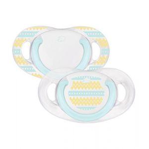 Bébé Confort Sucette dental safe silicone - 0 / 6 mois - Lot de 2 - Bicolore
