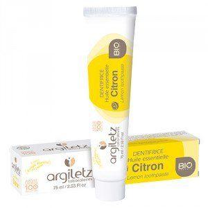 Argiletz Dentifrice Bio àl'huile essentielle de citron (75 ml)