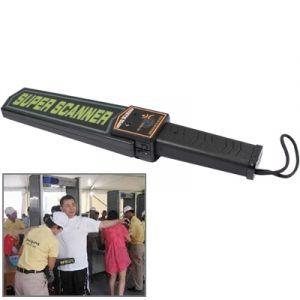 WeWoo Détecteur de métaux noir de métal Super Scanner