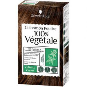 Schwarzkopf Coloration Poudre 100% Végetale Châtain Cuivré aux Plantes Ayurvédiques