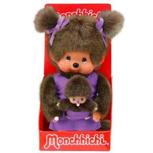 Bandai Peluche Monchhichi maman et son bébé 20 cm