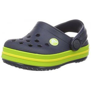 Crocs Crocband Clog Kids, Sabots Mixte Enfant, Bleu (Navy/Volt Green), 33-34 EU