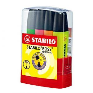 Stabilo Boss Lot de 4 couleurs assorties