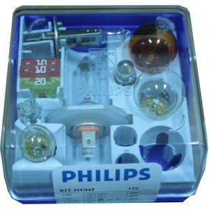 Philips Coffret secours 6 ampoules H7 et H1 12 Volts avec 3 fusibles 309999030
