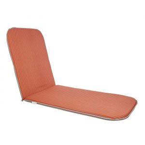 EZPELETA Bain de soleil Sol - 190x60 cm - Orange et gris - Dimensions : 190x60 cm - Coloris : orange et gris rayé - Enveloppe : 50% coton et 50% polyester