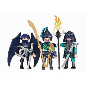 Playmobil 6328 - Trois guerriers des Dragons Asiatiques verts