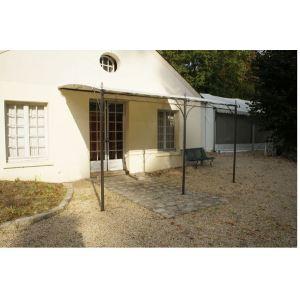 Chalet et Jardin 35-900202 - Tonnelle Capri murale en fer forgé sans toile 3 x 4 m