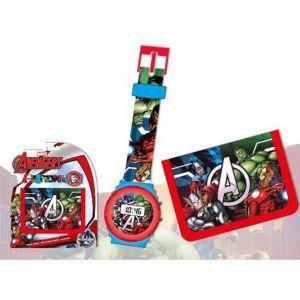 KD-MV92224 - Set portefeuille et montre pour garçon Avengers Marvel