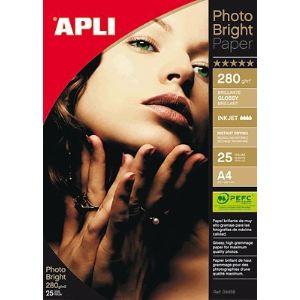 Agipa 25 feuilles de papier photo Apli 240g (A4)